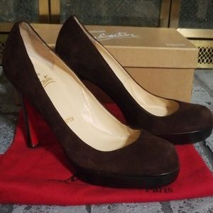 Christian Louboutin Bruges Suede Pump size 36